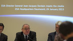 [3/4] Jean-Jacques Dordain during the annual press briefing on 24 January 2013