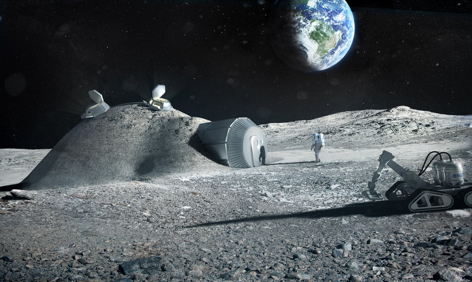 Lunar base made with 3D printing