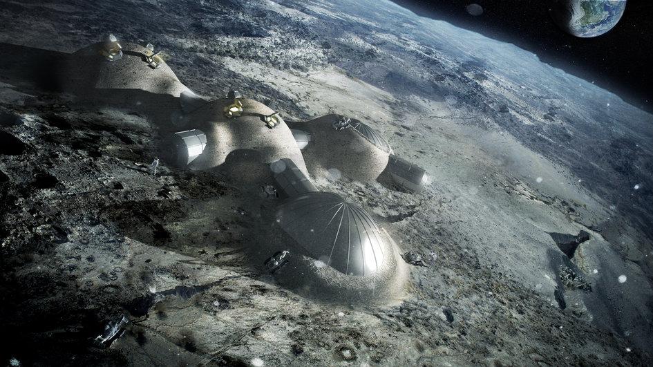 Movimentar toneladas de regolito – o solo lunar – para recobrir as bases lunares pode ser menos vantajoso que construir dentro de túneis de lava. Imagem: ESA