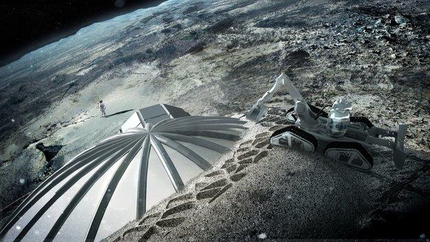 Habitation lunaire, une nouvelle technique pleine d'avenir ! Multi-dome_base_being_constructed_node_full_image