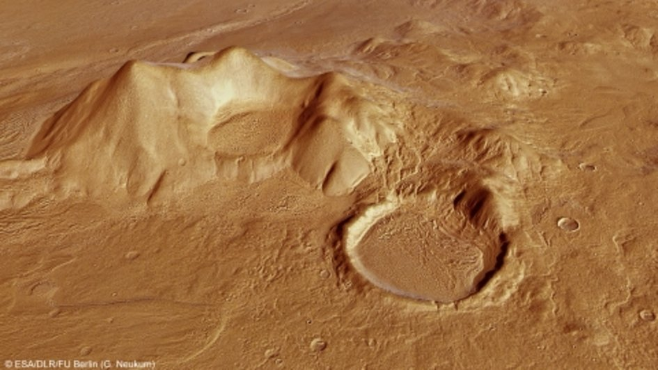 Perspective view of Reull Vallis