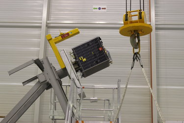 Proba-V undergoing mass measurement testing