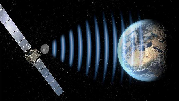 Rosetta spacecraft calls home
