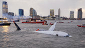 US Airways flight 1549 ended in the Hudson River after geese were ingested into the engines.