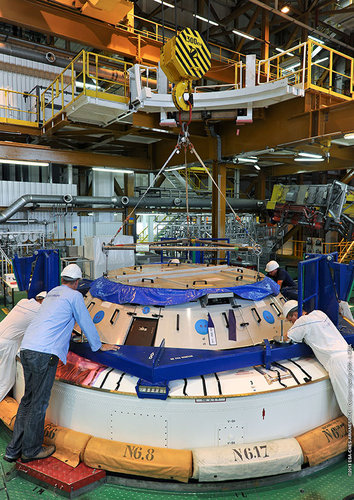 ATV-4 Final stage (EPS) integration complete