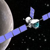 Artist's view of ESA's BepiColombo at Mercury