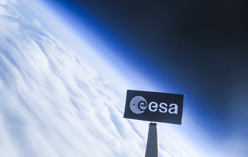 ESA patch during stratospheric balloon ride