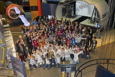 Students at Mission-X kick-off at ESTEC