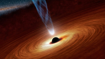 Rapidly rotating black hole accreting matter