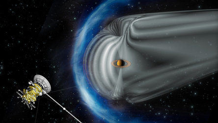 Cassini at Saturn's bow shock