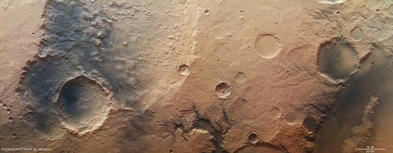 Southeast of Amenthes Planum