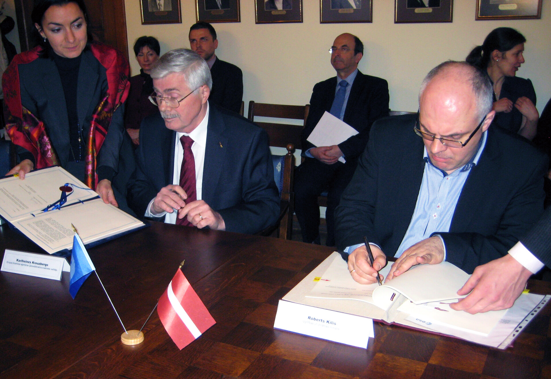 Signing the ECS agreement in Riga, Latvia