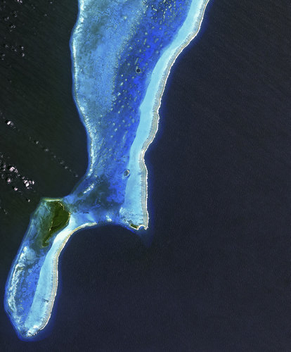 The Lighthouse Atoll in the Belize Barrier Reef