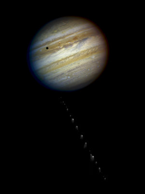 Comet Shoemaker-Levy 9 approaches Jupiter