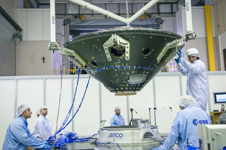 ExoMars EDM set for shaker test