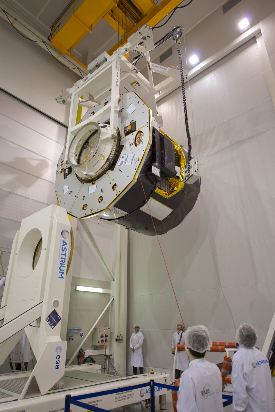 Gaia flight model during tests