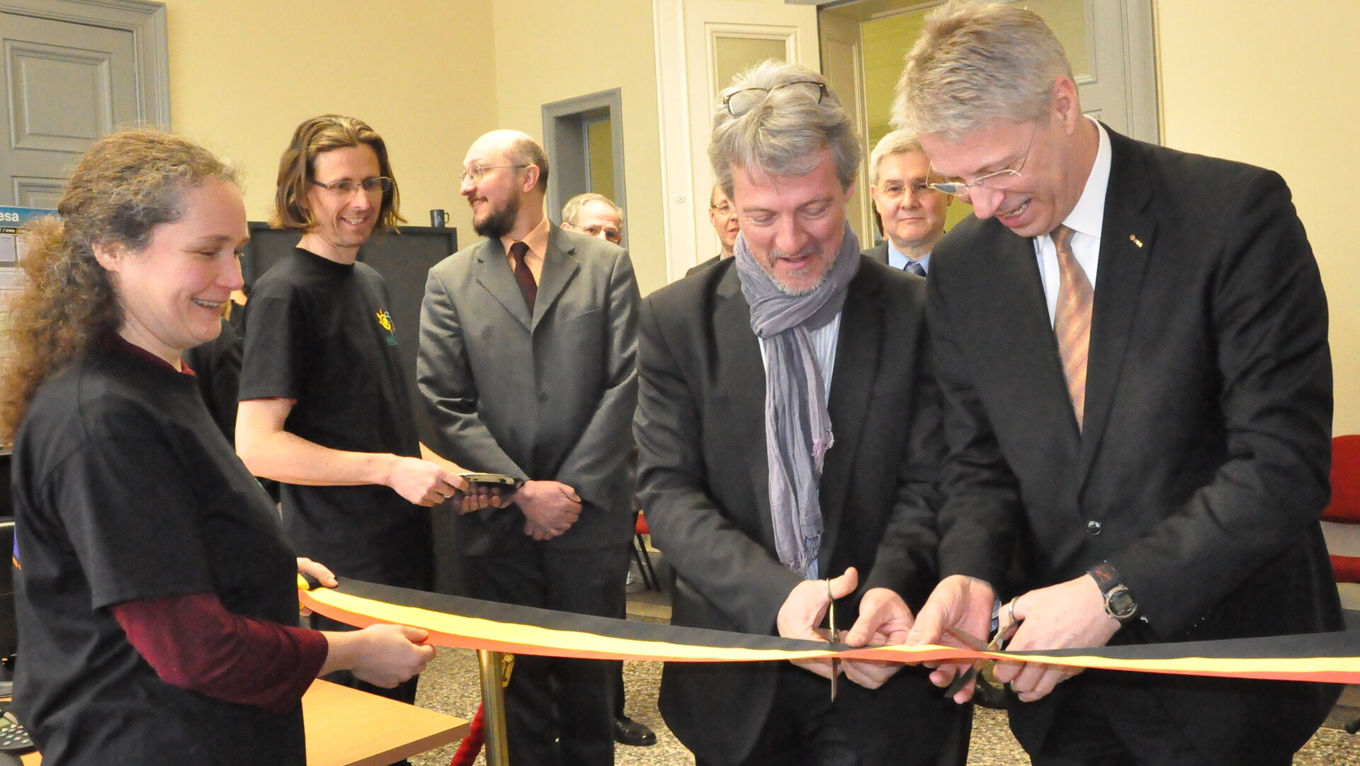 Ribbon cutting at the Royal Observatory