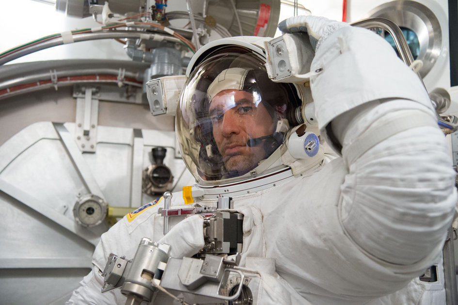 Luca in NASA spacesuit