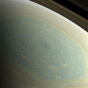 Saturn's north-pole hurricane