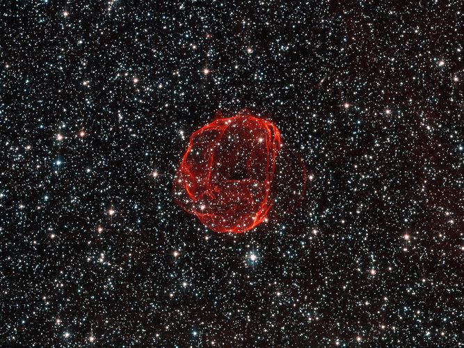 The remains of a star gone supernova