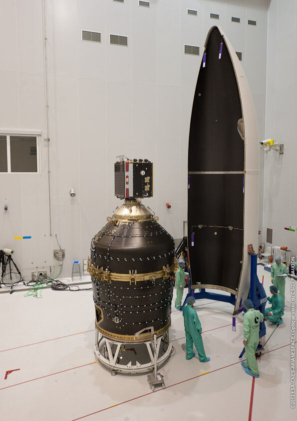 ClearSpace-1 will target the conical upper part of the payload adapter that delivered Proba-V into orbit