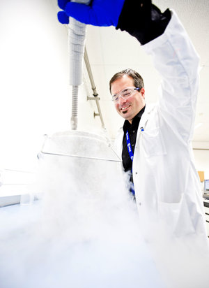 Working with liquid nitrogen