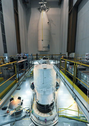 ATV-4 fully integrated for launch