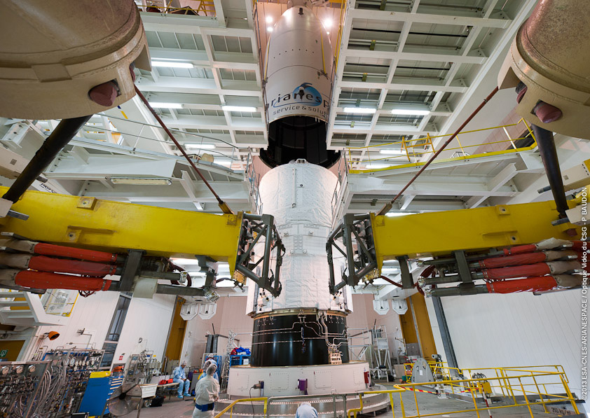Space in Images - 2013 - 05 - ATV-4 fully integrated for ...