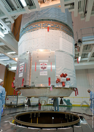 ATV-4 integrated on Ariane 5