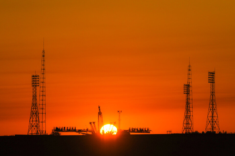 Starting point for Luca: Baikonur cosmodrome
