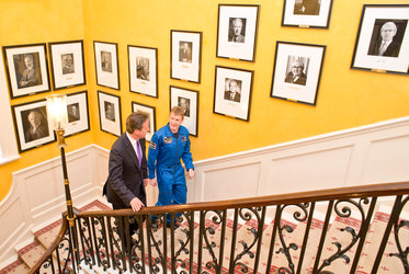 ESA astronaut Tim Peake with UK Prime Minister