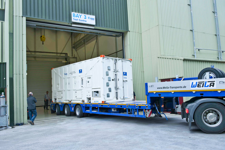 First Galileo FOC satellite arrives at ESTEC for space testing