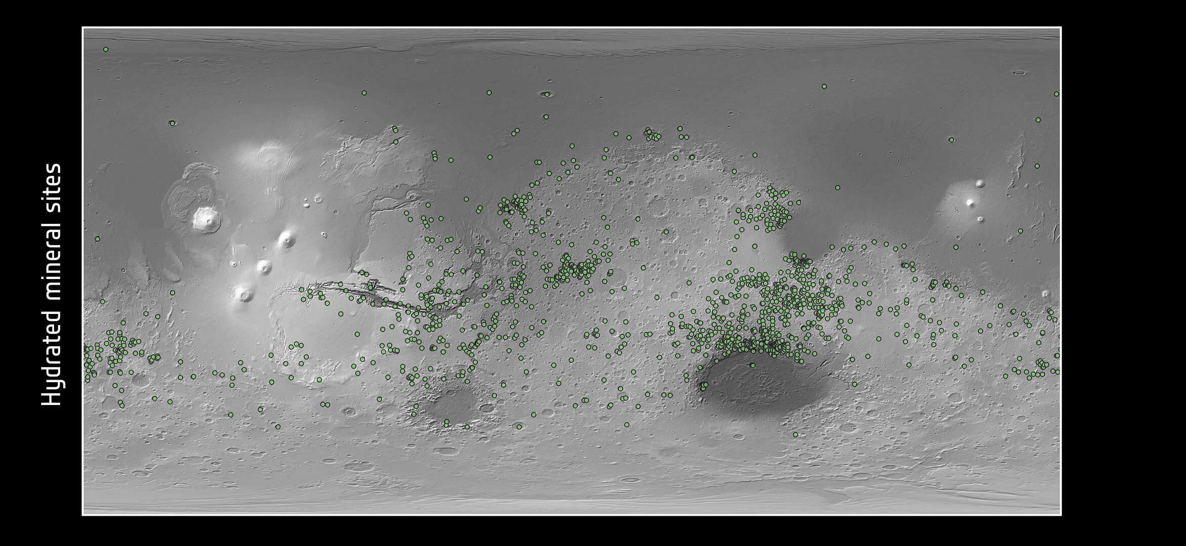 Hydrated mineral sites on Mars