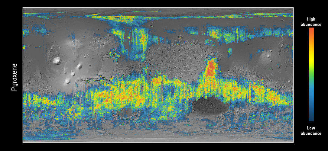 Pyroxene distribution on Mars