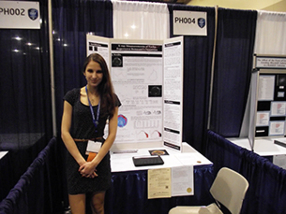 Michaela at the Intel ISEF Competition