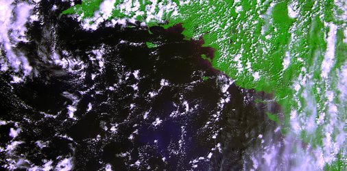 First image from the Proba-V satellite, acquired on 15 May 2013.