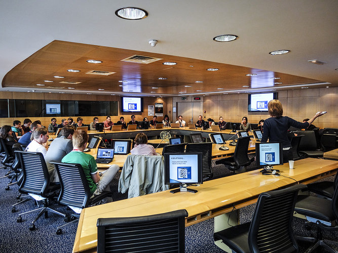 SpaceUp participants meeting at ESA HQ