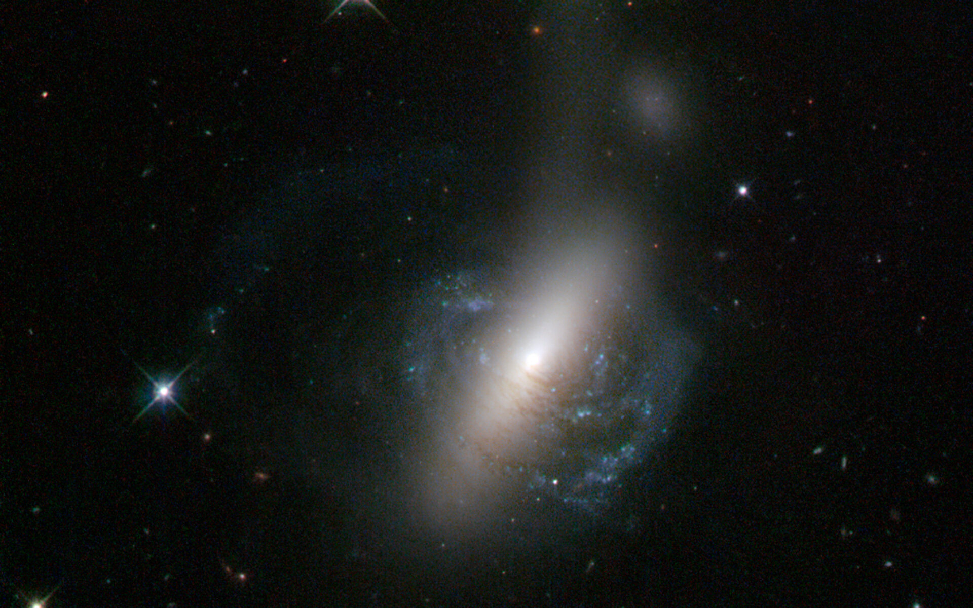 The messy result of a galactic collision
