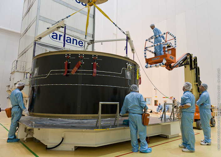 Transporting ATV-4 launch adapter