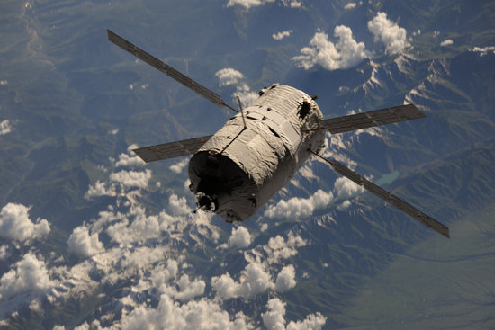 ATV Albert Einstein, Europe's supply and support ferry, docked with the International Space Station on 15 June 2013, some ten days after its launch from Europe's Spaceport in French Guiana.