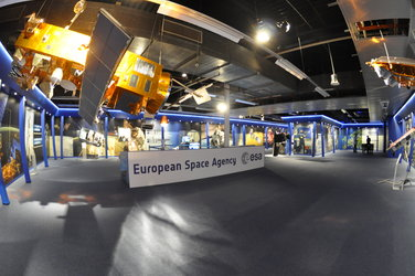 ESA pavilion at space exhibition Utrecht