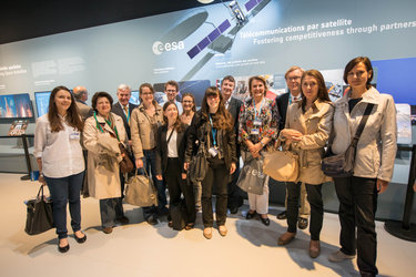 ESA staffs at the ESA pavilion