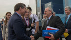[19/36] Jean-Jacques Dordain welcomes Vladimir Popvkin to the ESA pavilion