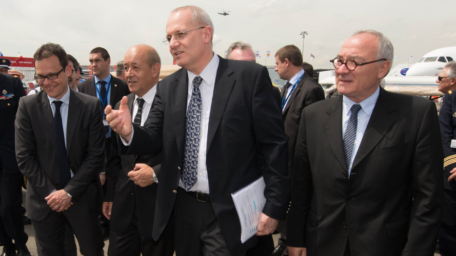 Jean-Yves Le Drian visits the Paris Air and Space Show