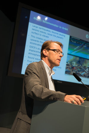 Johnny Johannessen during the presentation of Biomass