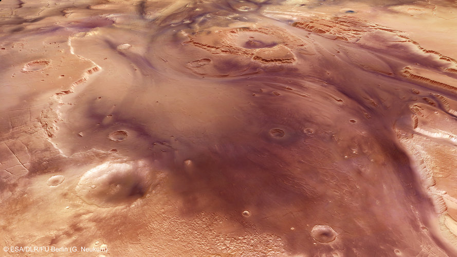 Perspective view of Kasei Valles