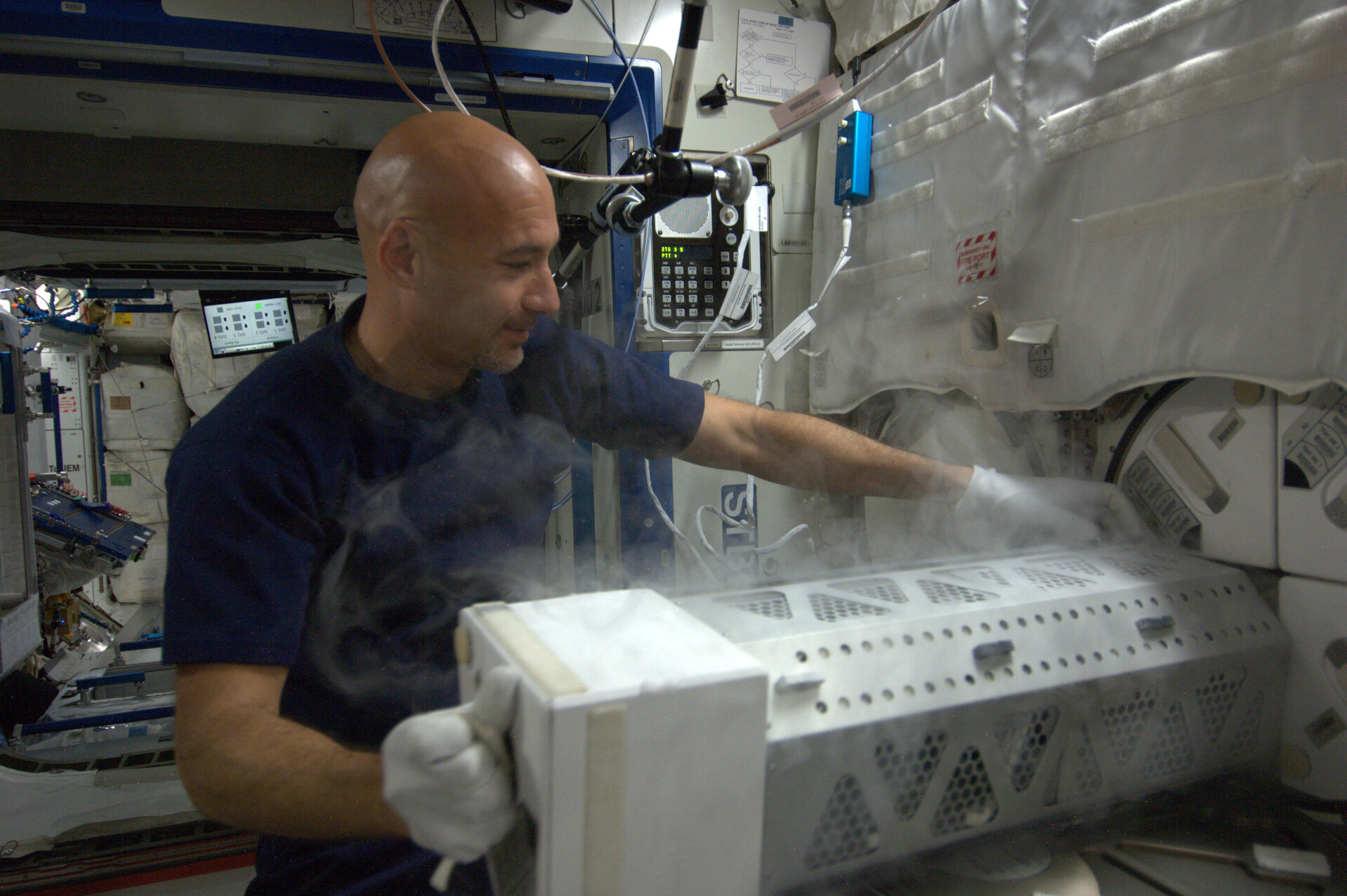 Luca storing experiment on Station