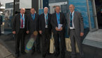[34/44] Members of the OPECST of France in front of the ESA Pavilion