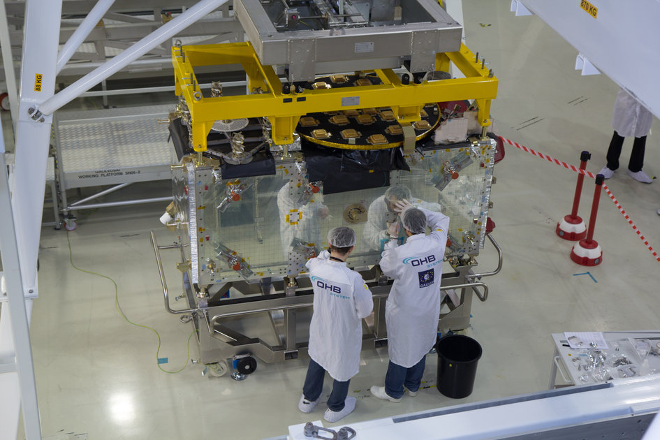 Phone-booth-sized Galileo FOC satellite