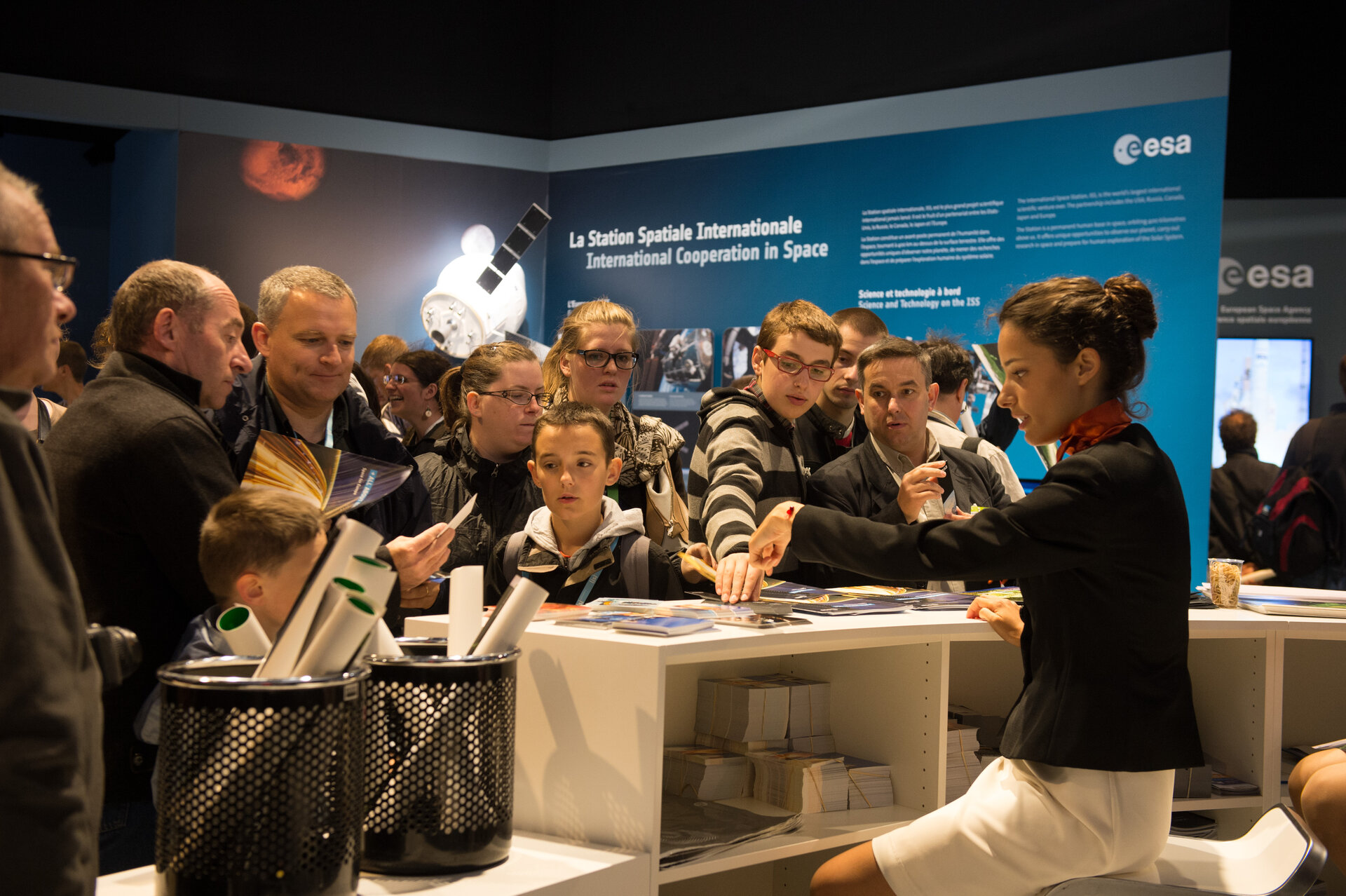 Public day at the ESA Pavilion, Paris Air and Space Show
